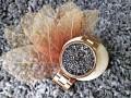 นาฬิกา GUOU หน้าปัดดีไซน์พื้นคริสตัลสีเทา สายสีพิงค์โกลด์สุดสวยหรู