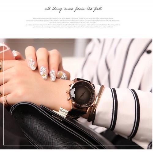 นาฬิกาคุณภาพดียี่ห้อ GUOU สีดำสายหนัง สวยหรูมาก