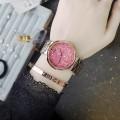 นาฬิกา GUOU หน้าปัดดีไซน์พื้นคริสตัลสีชมพู สายสีพิงค์โกลด์สุดสวยหรู
