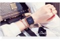 นาฬิกา GUOU หน้าปัดสีดำ ทรงสีเหลี่ยมโค้งมน เรียบ สวยหรู
