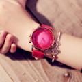 นาฬิกาคุณภาพดียี่ห้อ GUOU สีชมพูสายหนัง สวยสดมาก