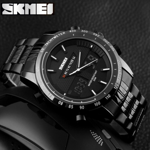 นาฬิกา SKMEI สองระบบ Analog + Digital สีดำ,ขาว งานคุณภาพดี
