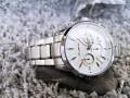 นาฬิกา CUENA หน้าปัดขาว สายสีเงิน สวยหรูมาก