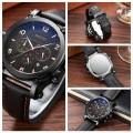 นาฬิกา GIMTO เรือนใหญ่ สายหนัง หน้าปัดดำ สวย+เท่ห์มาก