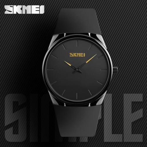 นาฬิกา SKMEI สายยางคุณภาพดี หน้าปัดดำ เรียบหรู ทนทาน