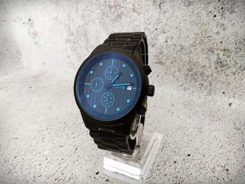 นาฬิกา GIMTO เรือนดำเข็มสีฟ้า คุณภาพพรีเมียม สวยหรูมาก