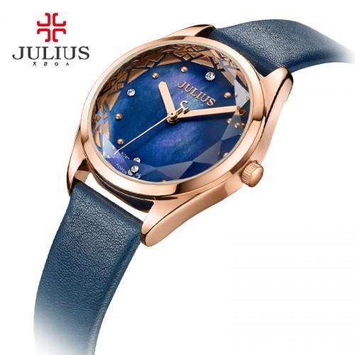 นาฬิกาแบรนด์ Julius สีน้ำทะเล หน้าปัดสวยมากก