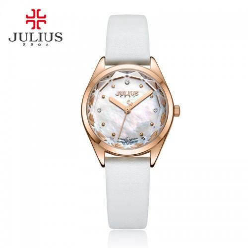 นาฬิกาแบรนด์ Julius สีขาว พื้นหน้าปัดลายมุขสวยมากก