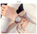 นาฬิกา GUOU สายม่วง หน้าปัดเหลี่ยมขอบมน สวยลงตัวมากๆ