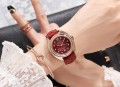 นาฬิกา GUOU สายหนังสีแดง สวยหรูมาก งานพรีเมียม