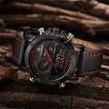 นาฬิกา NAVIFORCE สายหนังสีดำแดง สวยเข้ม คุณภาพเยี่ยม