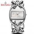 นาฬิกา BAOSAILI สีเงิน สวยหรูมาก เหมาะกับการใส่ออกงานสุดๆ