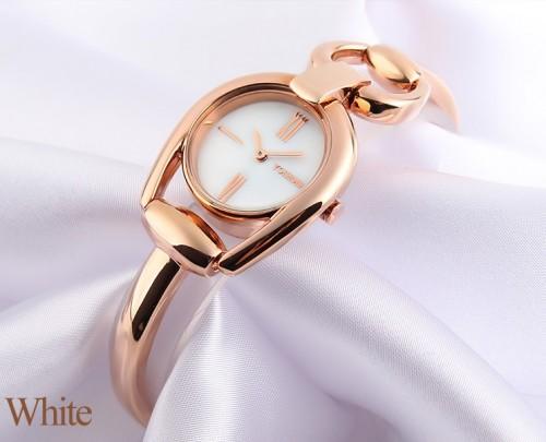 นาฬิกา Yohemei ดีไซน์กึ่งกำไล หน้าปัดมุขขาว