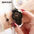 นาฬิกาสีดำยี่ห้อ SANDA สวยหรูสุดๆ คุณภาพยอดเยี่ยม