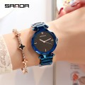 นาฬิกาสีน้ำเงินดำยี่ห้อ SANDA สวยหรูสุดๆ คุณภาพยอดเยี่ยม