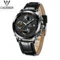 นาฬิกา Cadisen หน้าปัดสีดำ สายหนังแท้สีดำ สวยเท่ห์สุดๆ