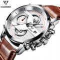 นาฬิกา Cadisen หน้าปัดสีขาว สายหนังแท้สีน้ำตาล สวยเท่ห์สุดๆ