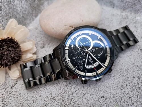นาฬิกา NIBOSI หน้าปัดสีดำ สายสแตนเลสสีดำ สวยหรู คุณภาพเยี่ยม