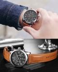 นาฬิกา Ochstin หน้าปัดสีดำ สายหนังแท้สีน้ำตาล สวยเรียบหรู