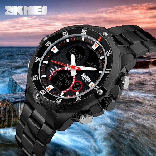 SKMEI-Luxury-Brand-Watches-Mens-Stainless-Steel-Analog-Digital-Watch-Man-Shock-Resist-Clock-Fashion-Casual2