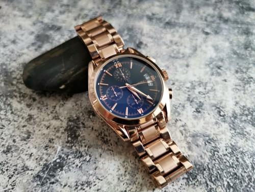 นาฬิกา CUENA สีโรสโกลด์หน้าปัดดำ สายสแตนเลส สวยหรู