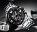นาฬิกา NIBOSI หน้าปัดสีดำ สายสแตนเลส สวยหรู เท่ห์มีสไตล์