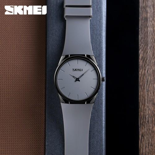 นาฬิกา SKMEI สายยางคุณภาพดี หน้าปัดเทา เรียบหรู ทนทาน