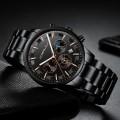 นาฬิกา CRRJU หน้าปัดสีดำ สายสีดำ หน้าปัดสวยหรูมาก