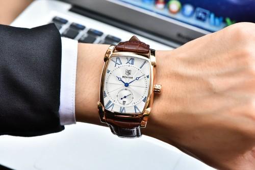 นาฬิกา BENYAR พรีเมียม หน้าขาวขอบทอง คุณภาพดี สวยหรูสุดๆ