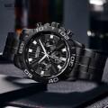 นาฬิกา MEGIR หน้าปัดดำสายดำ สวยหรู คุณภาพเยี่ยม
