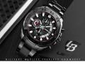 นาฬิกา LIEBIG หน้าปัดสีดำลายขาวแดง สายสีดำ สวยหรู งานดีมาก