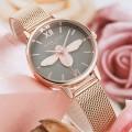 นาฬิกา Daybird สีเทา+พิงค์โกลด์ หน้าปัดสวยมาก ลายนูน 3 มิติ