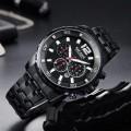 นาฬิกา MEGIR สีดำ สายสแตนเลส สวยหรูมาก