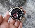 นาฬิกา MEGIR สุดหรู สายสแตนเลส หน้าสีดำสวยมาก