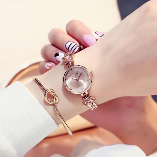นาฬิกาแฟชั่นคุณภาพดี KIMIO สีโรสโกลด์ สวยมีสไตล์