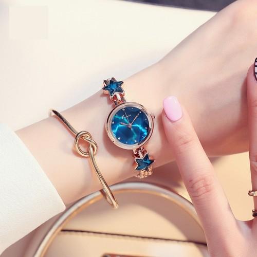 นาฬิกาแฟชั่นคุณภาพดี KIMIO สีฟ้า สวยมีสไตล์