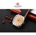 นาฬิกาคุณภาพดี สายสีดำหน้าน้ำตาลอ่อน แบรนด์ Julius