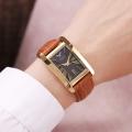 นาฬิกาแบรนด์ Julius สายหนังแท้สีน้ำตาล ดีไซน์สวยคลาสสิค