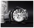 นาฬิกา SKMEI สายหนังแท้สีดำ หน้าปัดขาวสวยคลาสสิค