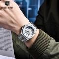 นาฬิกา BENYAR เกรดพรีเมียม พื้นขาวตัดน้ำเงิน สวยมีเอกลักษณ์