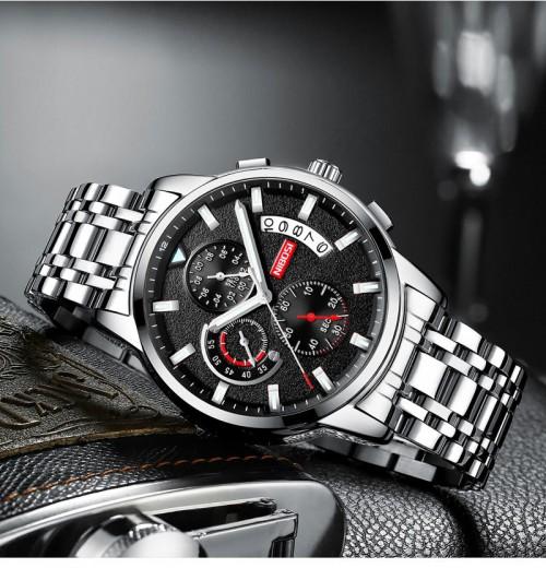 นาฬิกาแบรนด์ NIBOSI หน้าปัดดำ สวยหรู