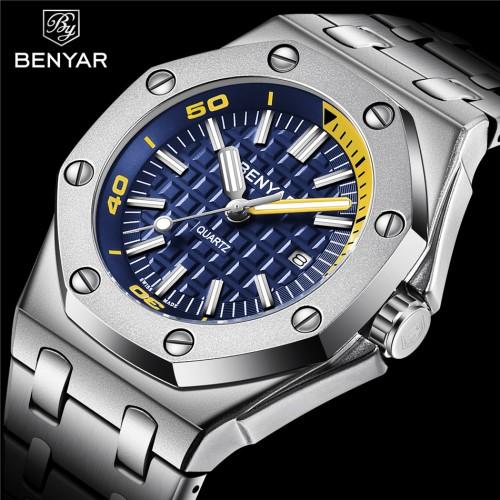 นาฬิกา BENYAR เกรดพรีเมียม พื้นน้ำเงิน สวยมีเอกลักษณ์