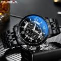 นาฬิกา CUENA หน้าปัดสีดำ สายสแตนเลสสีดำเงา สวยหรูมีสไตล์