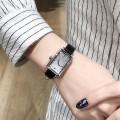 นาฬิกาเกรดพรีเมียม Julius สายหนังแท้สีดำ ดีไซน์สวยหรู