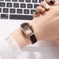นาฬิกาเกรดพรีเมียม Julius สายหนังแท้สีน้ำตาล ดีไซน์สวยหรู