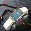 นาฬิกาเกรดพรีเมียม Julius สายหนังแท้สีขาว ดีไซน์สวยหรู