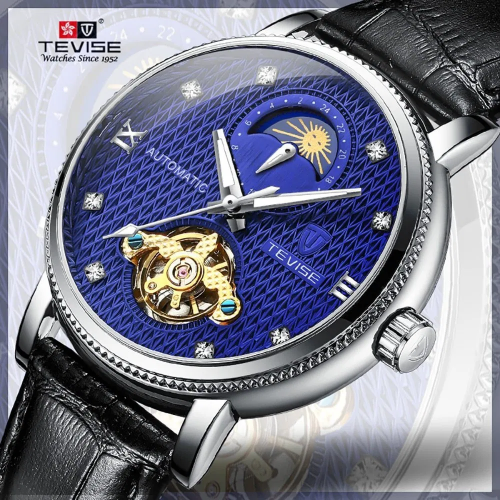 TEVISE-T612-Top-Brand-Luxury-Automatic-Watch-Men-Mechanical-Watches-Moon-Phase-Fashion-Luminous-Leather-Waterproof