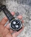 นาฬิกา MEGIR สายหนังแท้สีดำ หน้าปัดดำ สวยเท่ห์สุดๆ
