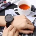 นาฬิกา Mini Focus สีเทาดำ สายหนังแท้ เรียบหรูสุดๆ