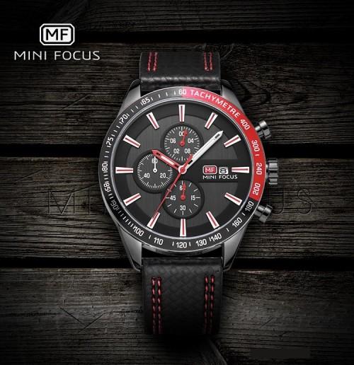 นาฬิกา Mini Focus หน้าปัดสีดำตัดแดง ดีไซน์สปอร์ตสุดๆ